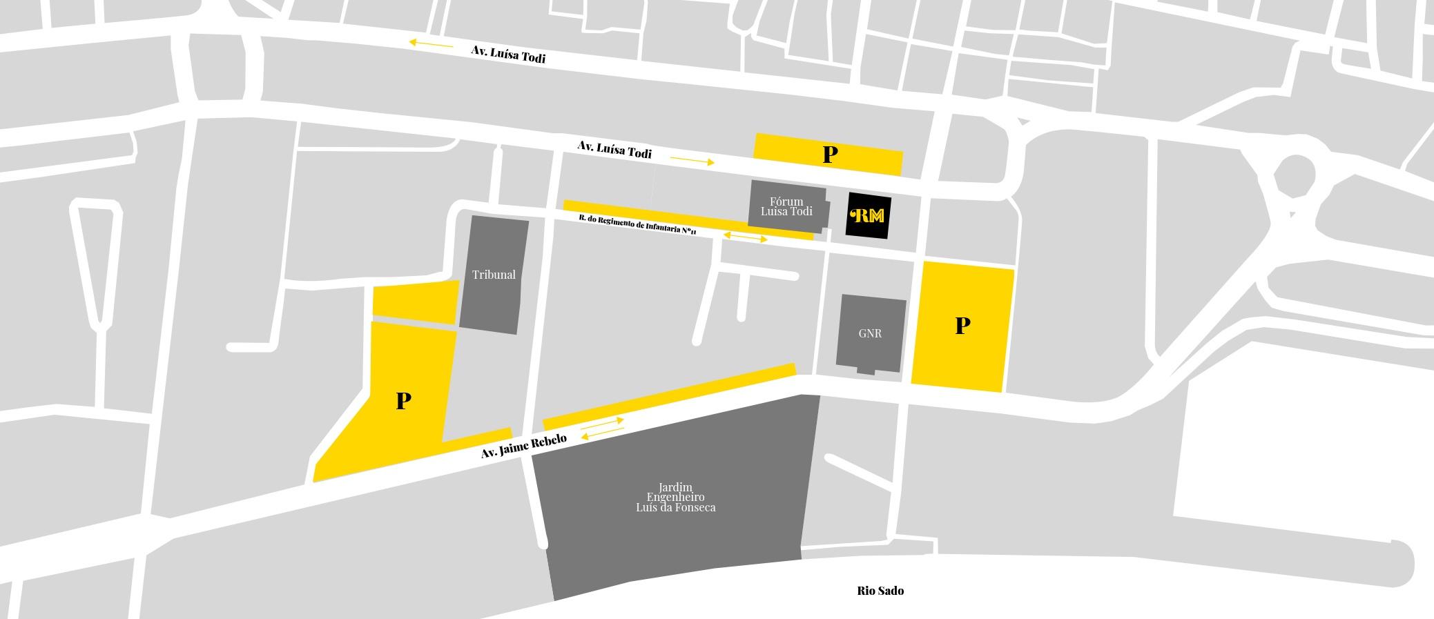 Mapa Parqueamento